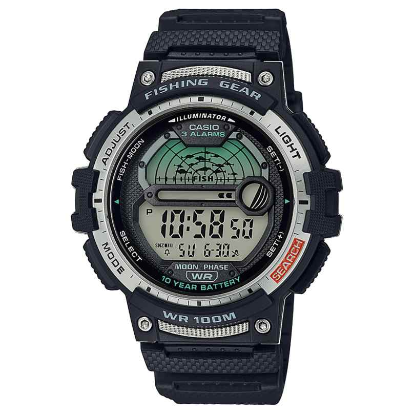 Casio WS-1200H-1AVEF Men's Digital Watch for Angler and Fishermen Black 4549526252044