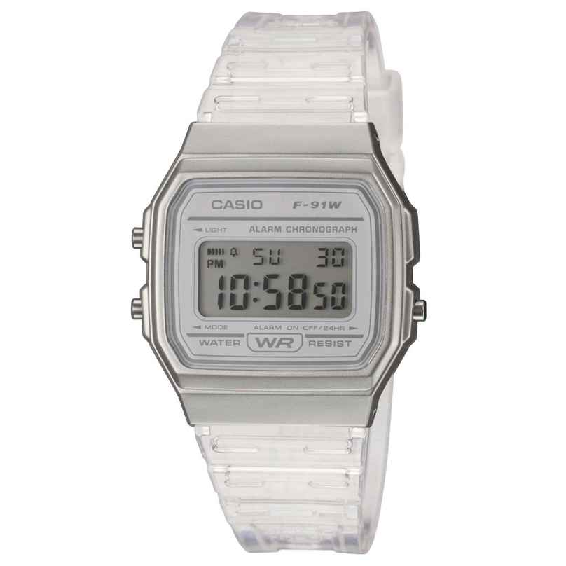 Casio F-91WS-7EF Collection Women's and Youth Watch Silver Tone 4549526261121