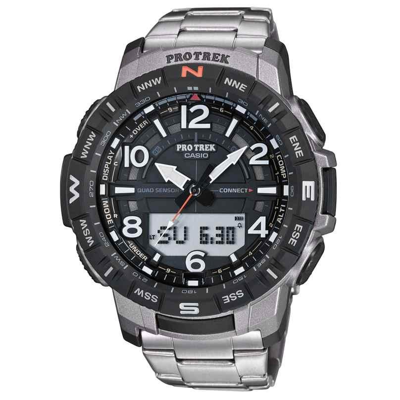 Casio PRT-B50T-7ER Pro Trek Bluetooth Herrenuhr mit Titan-Armband 4549526261862