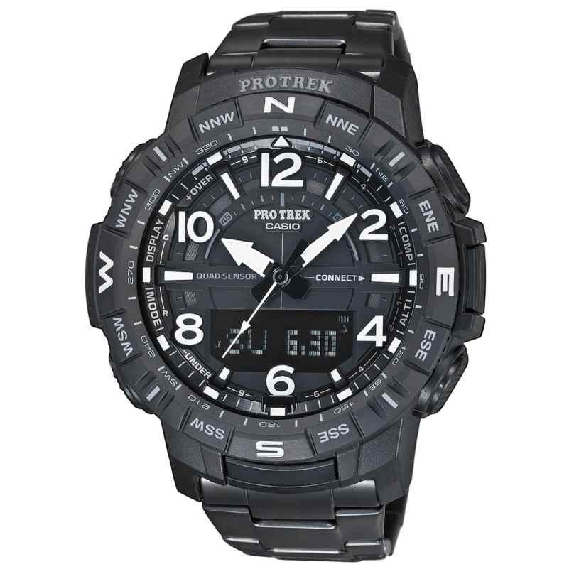 Casio PRT-B50YT-1ER Pro Trek Bluetooth Herrenuhr Titan-Armband schwarz 4549526259609