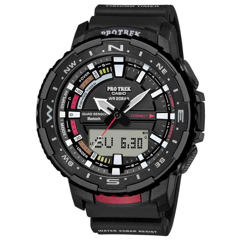 Casio PRT-B70-1ER Pro Trek Bluetooth Herrenuhr Schwarz/Rot 4549526280177