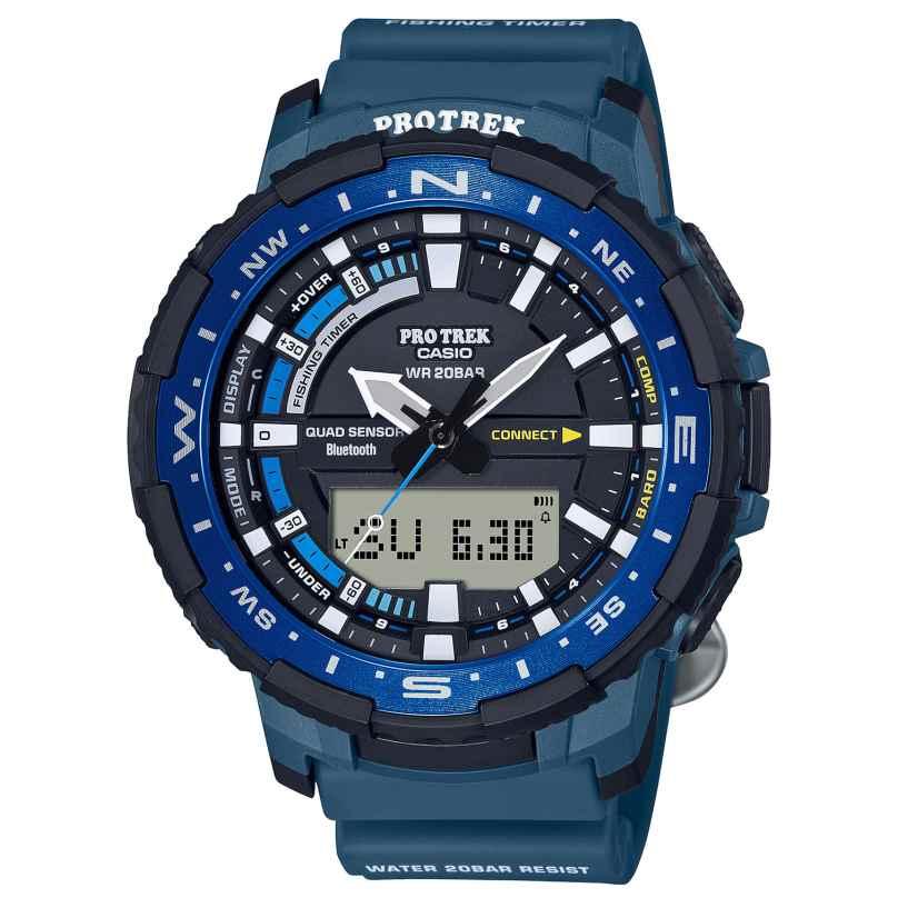 Casio PRT-B70-2ER Pro Trek Bluetooth Herrenuhr Blau 4549526280221