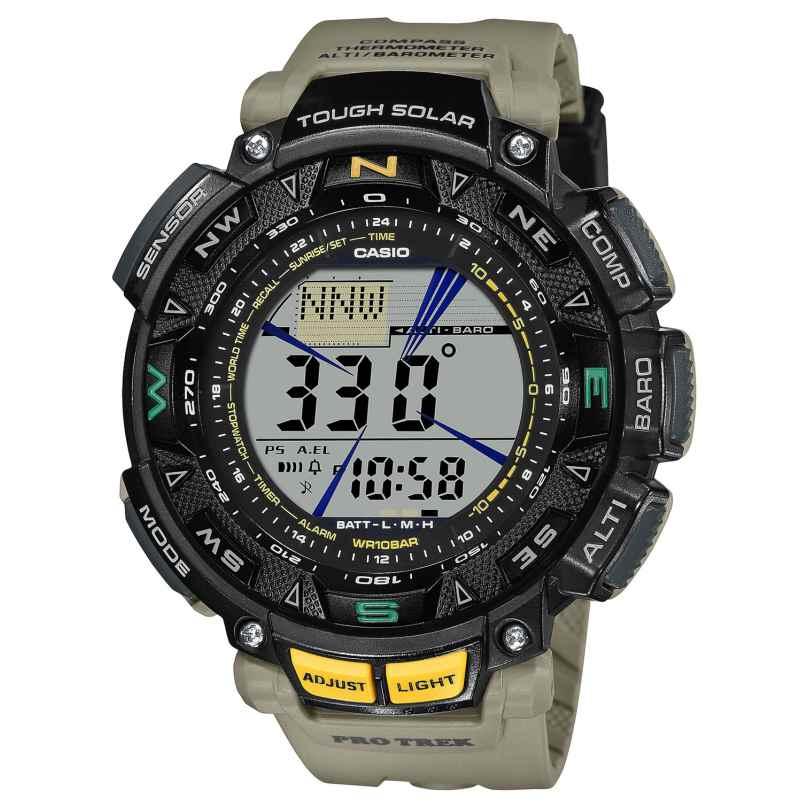 Casio PRG-240-5ER Pro Trek Outdoor Herren-Armbanduhr Khaki 4549526272974
