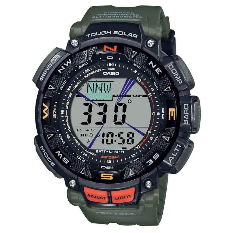 Casio PRG-240-3ER Pro Trek Outdoor Herren-Armbanduhr Schwarz/Grün 4549526272929