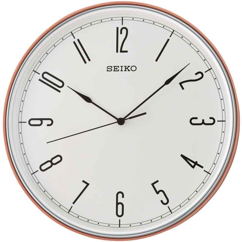 Seiko QXA755R Wall Clock with Quiet Movement Red / Orange / White 28 cm 4517228835414
