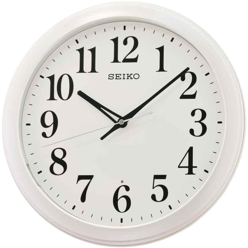 Seiko QXA776W Wall Clock with Automatic Lightning White 4517228837531