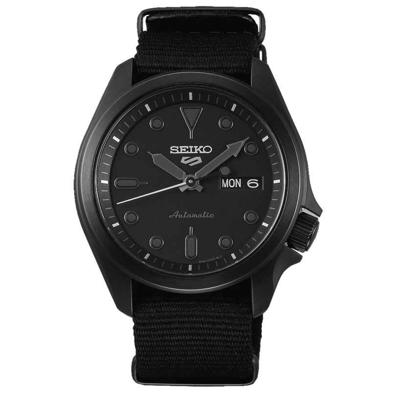 Seiko 5 Sports SRPE69K1 Herren-Armbanduhr Automatik mit Natoband Schwarz 4954628235688