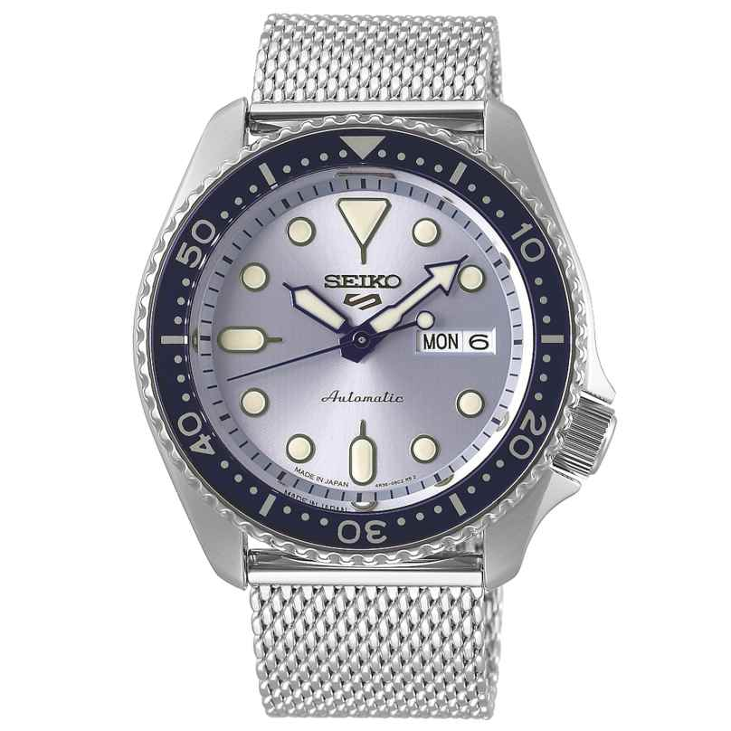 Seiko 5 Sports SRPE77K1 Men's Watch Automatic Stainless Steel with Mesh Bracelet 4954628235558