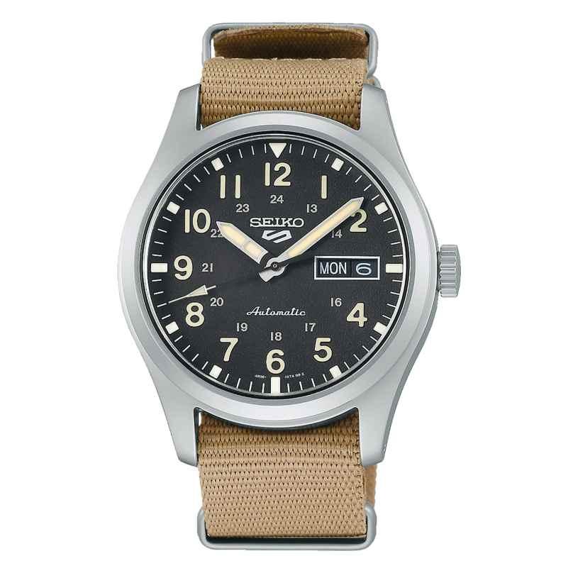 Seiko 5 Sports SRPG35K1 Herren-Armbanduhr Automatik Beige/Schwarz 4954628240552