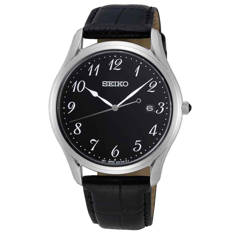Seiko SUR305P1 Herrenuhr mit Saphirglas Lederband schwarz 4954628233349
