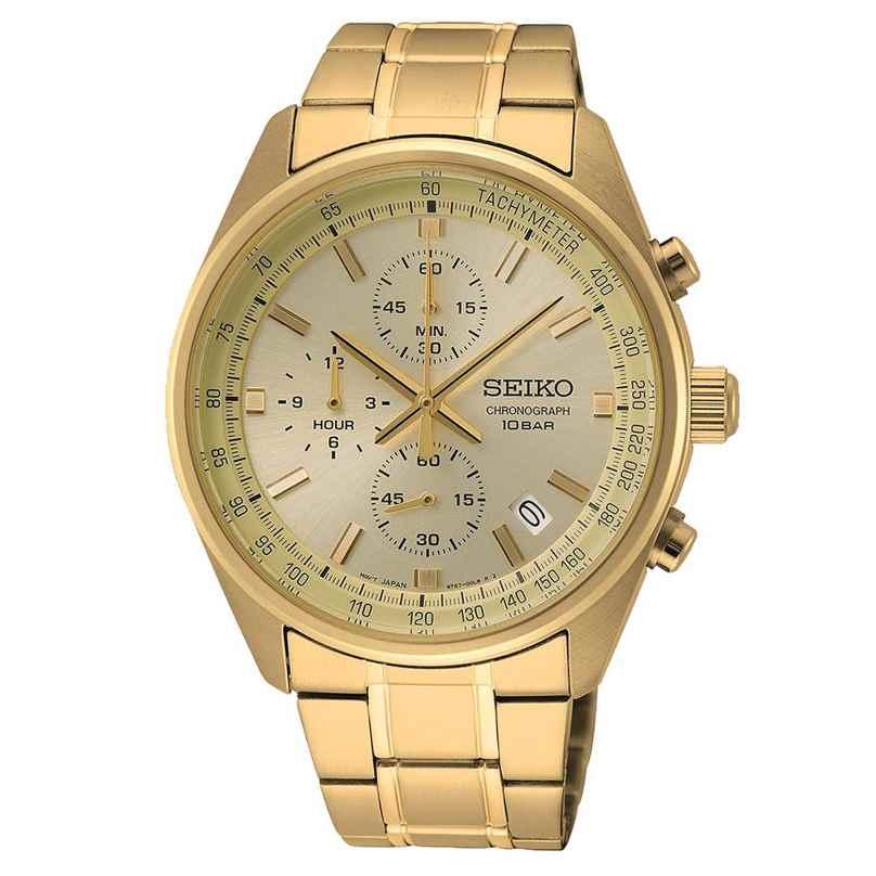 Seiko SSB382P1 Herren-Armbanduhr Chronograph goldfarben 4954628235732