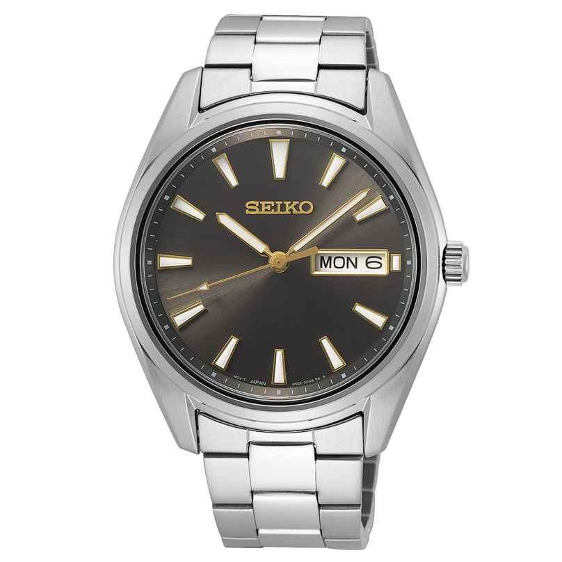 Seiko SUR343P1 Herren-Armbanduhr Grau mit Saphirglas 4954628235985