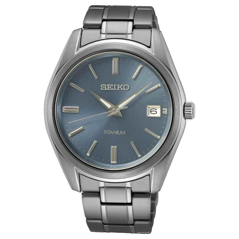 Seiko SUR371P1 Herren-Armbanduhr Titan Blaugrau 4954628238856