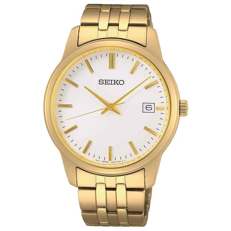 Seiko SUR404P1 Herren-Armbanduhr Quarz Goldfarben 4954628238788