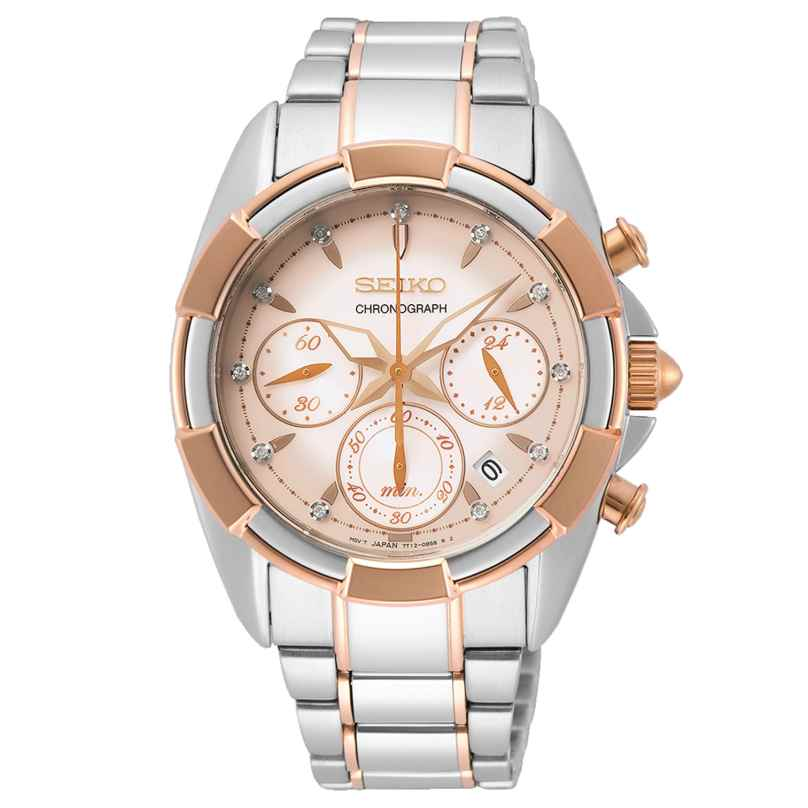 Seiko SRWZ02P1 Ladies' Watch Chronograph with Sapphire Crystal Two-Colour 4954628235244