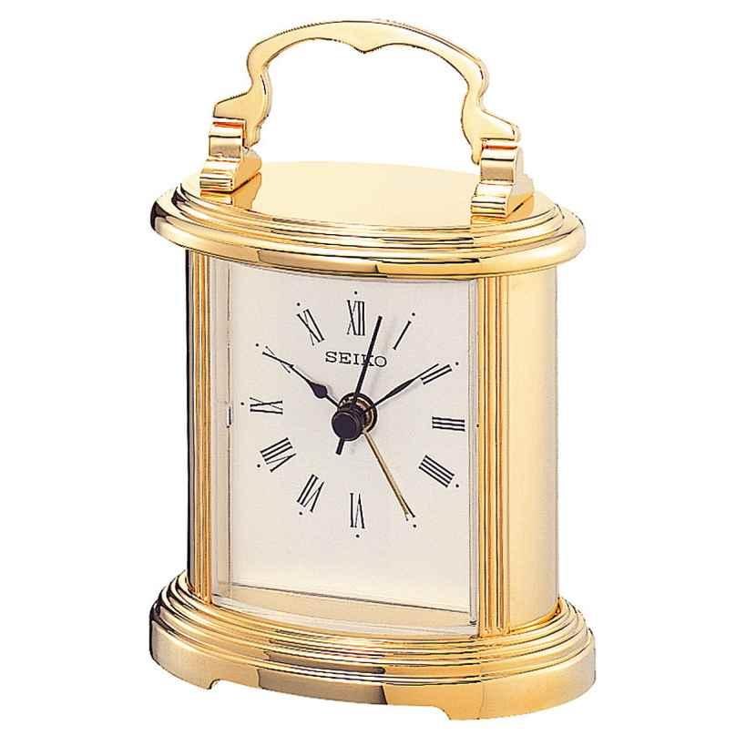 Seiko QHE109G Table Alarm Clock Gold Tone 4517228803741