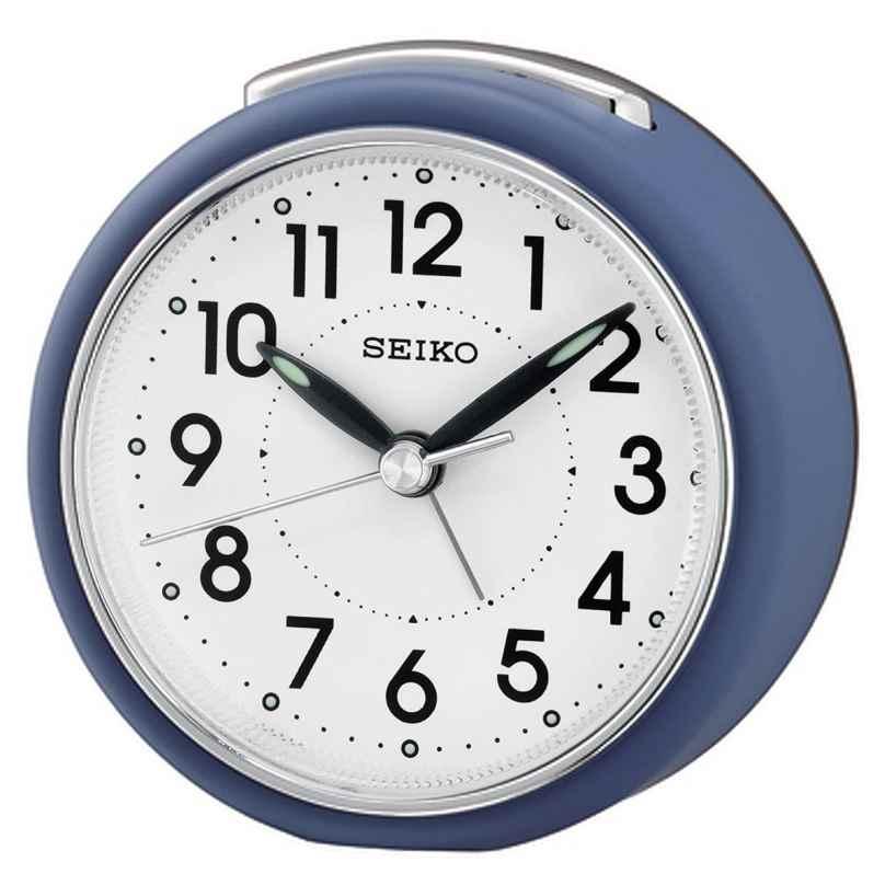 Seiko QHE125L Wecker mit Leisegang Blau 4517228836053