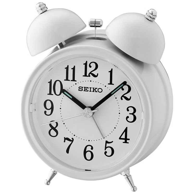 Seiko QHK035C Glocken-Wecker mit Leisegang creme-weiß 4517228830891