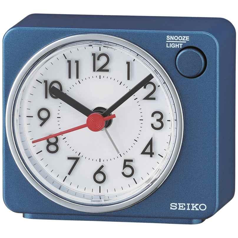 Seiko QHE100E Wecker Reisewecker Quarz Leisegang Blau 4517228834615