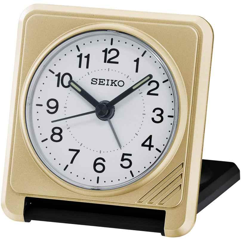 Seiko QHT015G Reise-Wecker Goldfarben 4517228828720