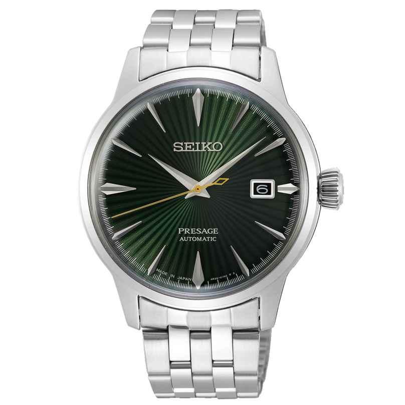 Seiko SRPE15J1 Presage Automatik-Herrenuhr Cocktail silber / grün 4954628234452
