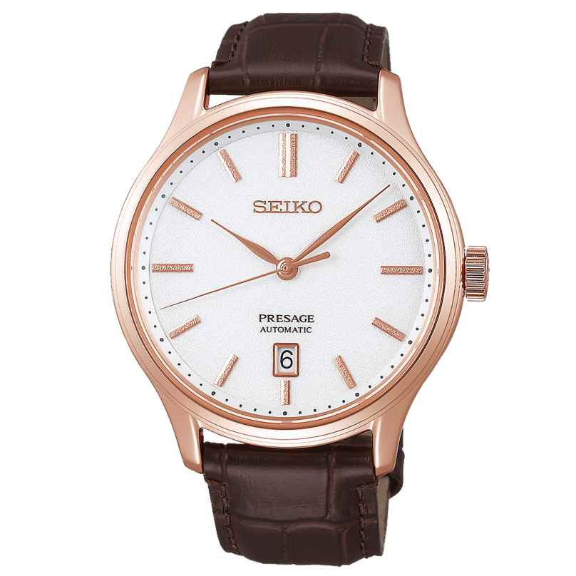 Seiko SRPD42J1 Presage Men's Automatic Watch Brown Leather Strap 4954628230850