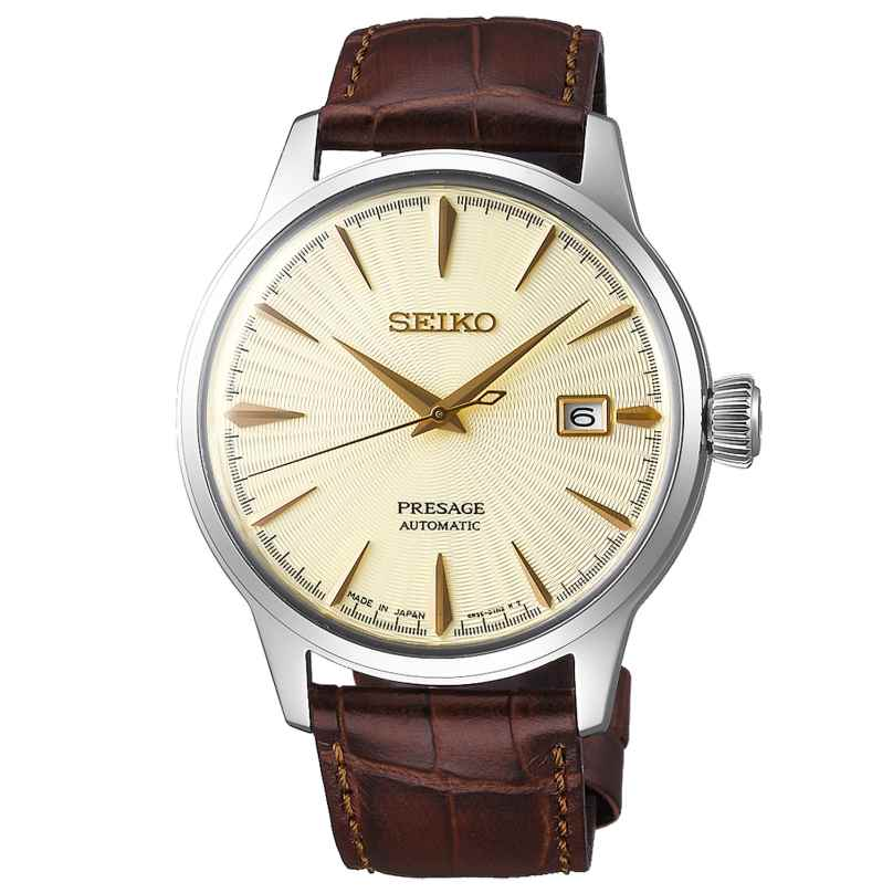 Seiko SRPC99J1 Presage Automatik Herrenuhr goldfarben / braun 4954628227379