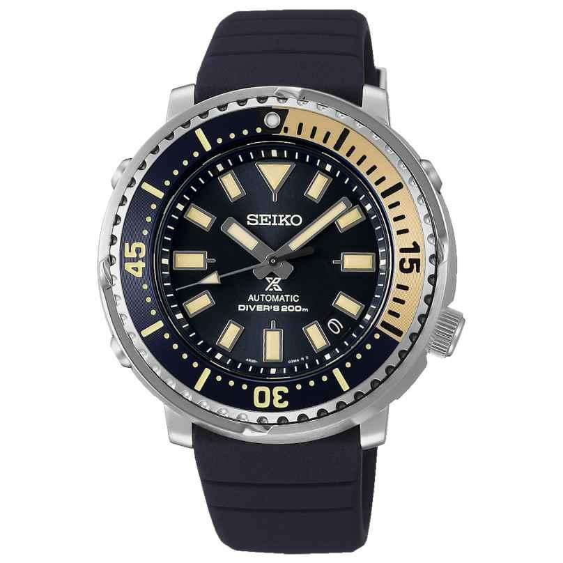Seiko SRPF81K1 Prospex Sea Herren-Taucheruhr Automatik Dunkelblau/Beige 4954628238917
