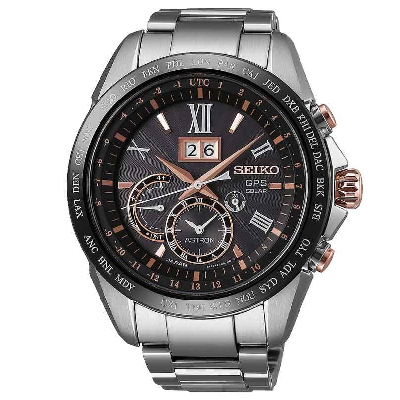 Seiko SSE151J1 Astron GPS Solar Dual Time Big Date Herrenuhr 4954628214416