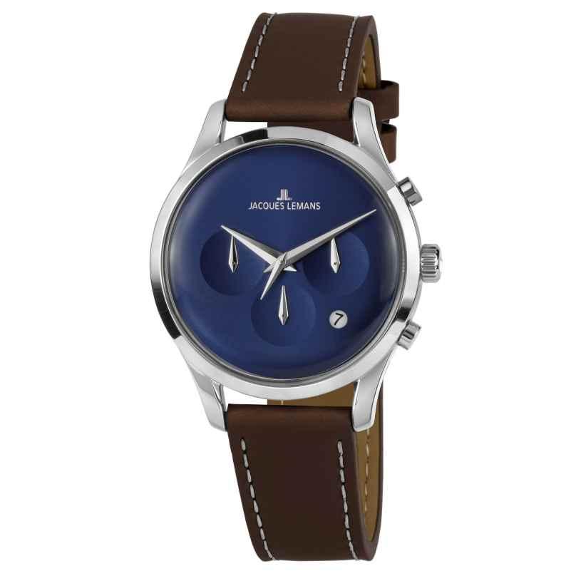 Jacques Lemans 1-2067C Armbanduhr in Unisexgröße Retro Classic 4040662156567