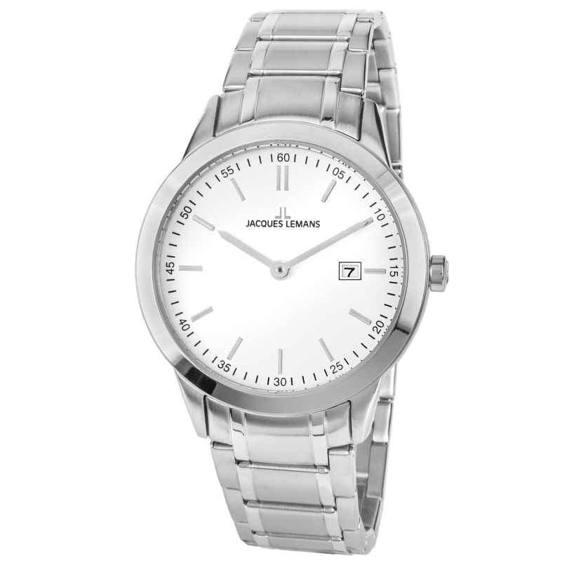 Jacques Lemans 1-2096B Herren-Armbanduhr Weiß Ø 40 mm 4040662158356