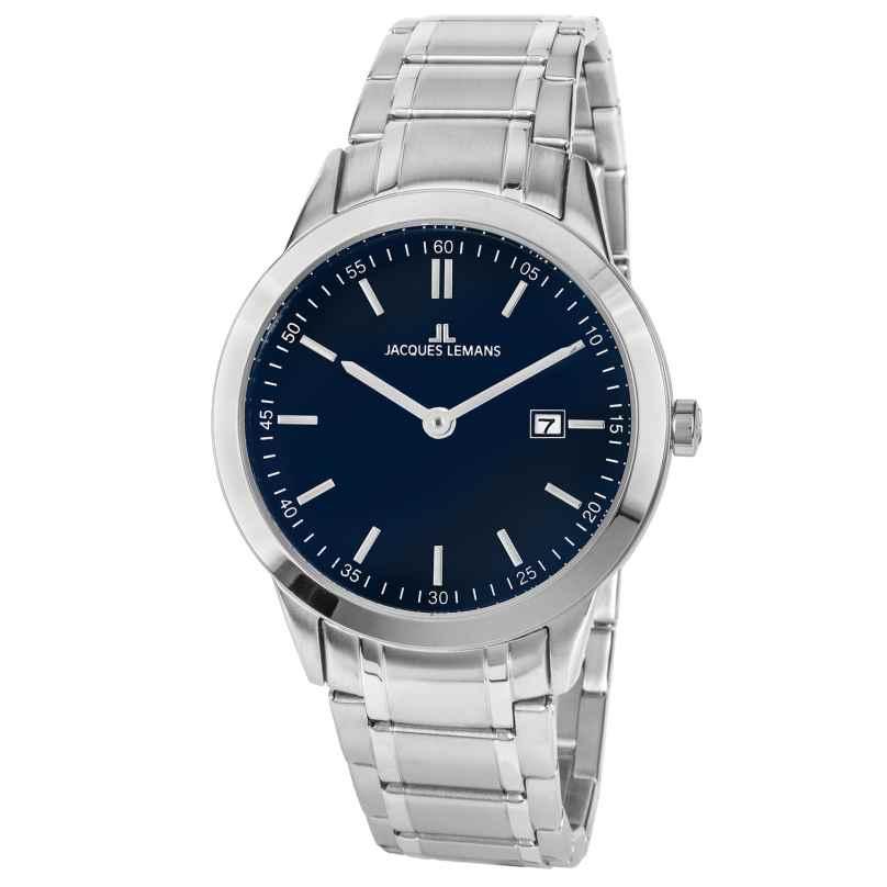 Jacques Lemans 1-2096C Herren-Armbanduhr Blau Ø 40 mm 4040662158363