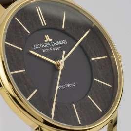 Jacques Lemans 1-2105B Eco-Power Unisex Solar Watch Brown/Gold Tone