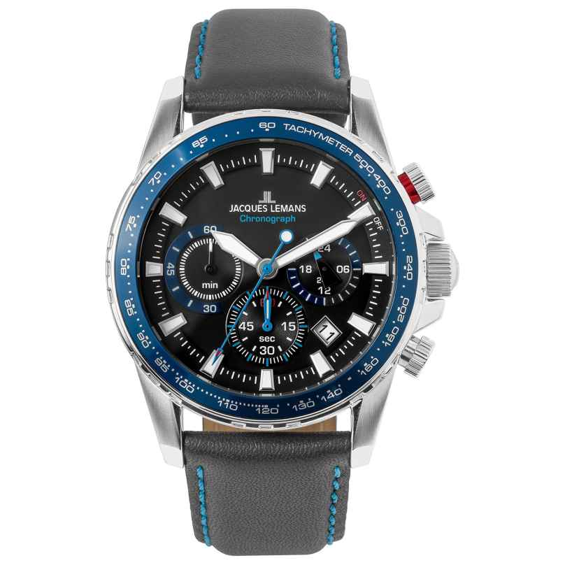 Jacques Lemans 1-2099B Herrenuhr Chronograph Liverpool Blau 4040662160557