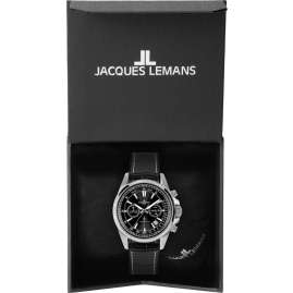 Jacques Lemans 1-2117A Herrenuhr Chronograph Liverpool Schwarz