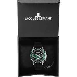 Jacques Lemans 1-2127C Herrenuhr Chronograph Liverpool Schwarz/Grün