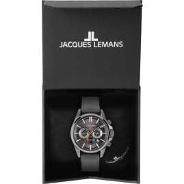Jacques Lemans 1-2119A Herren-Armbanduhr Chronograph Liverpool Grau