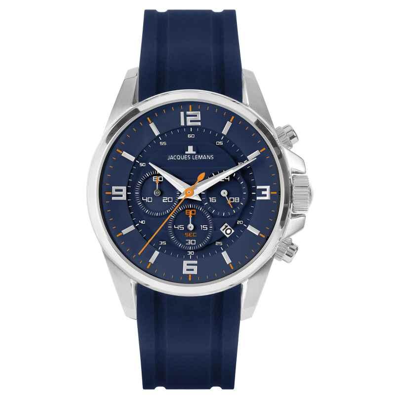 Jacques Lemans 1-2118C Herren-Chronograph Blau 4040662164272