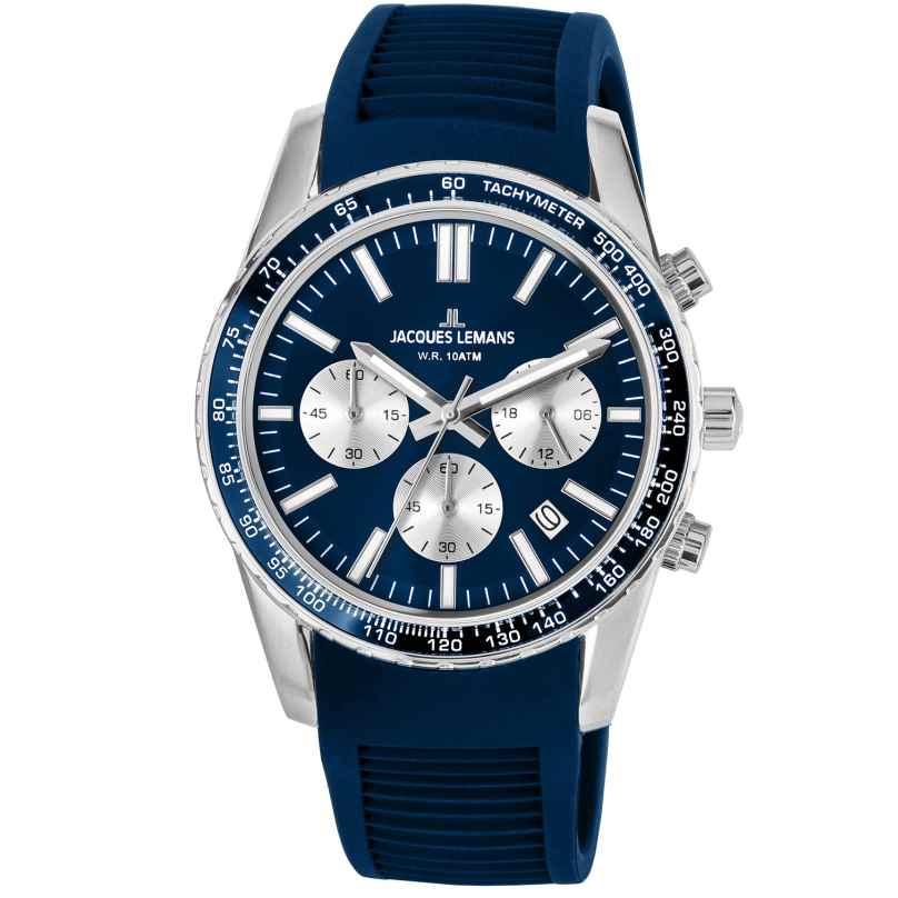 Jacques Lemans 1-2059C Armbanduhr Chronograph Liverpool Blau Ø 39 mm 4040662144106