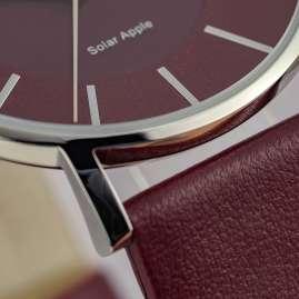 Jacques Lemans 1-2113E Eco-Power Ladies' Watch Solar Dark Red
