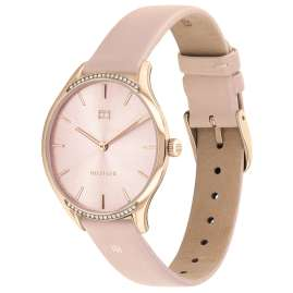 Tommy Hilfiger 1782215 Women's Watch with Leather Strap Gray Rose