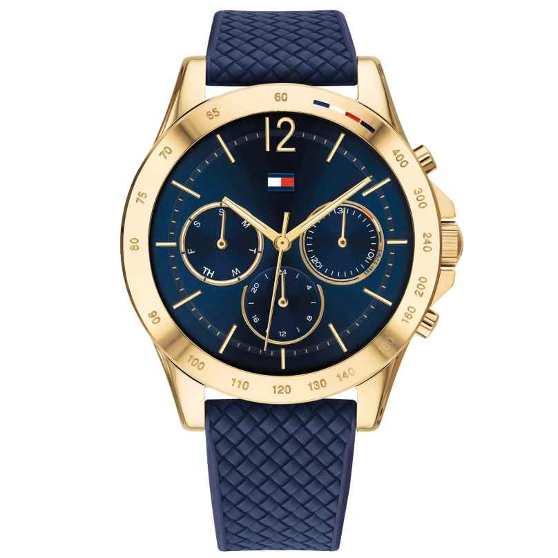Tommy Hilfiger 1782198 Ladies Watch Multifunction Sport Blue/Gold 7613272378598