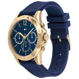 Tommy Hilfiger 1782198 Damenuhr Multifunktion Sport Blau/Gold