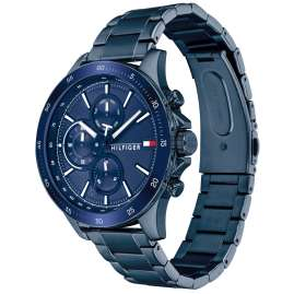 Tommy Hilfiger 1791720 Multifunktion Herrenuhr Bank Blau