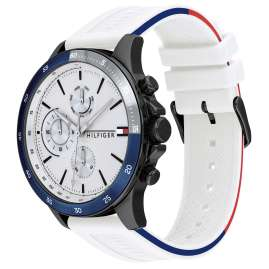 Tommy Hilfiger 1791723 Men's Watch Multifunction Bank White