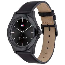 Tommy Hilfiger 1791715 Men's Watch Barclay Leather Strap Black