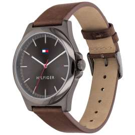 Tommy Hilfiger 1791717 Men's Wristwatch Barclay Leather Strap Brown / Grey