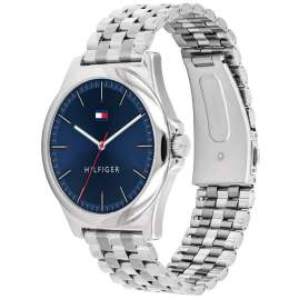 Tommy Hilfiger 1791713 Men's Watch with Steel Bracelet Barclay silver / blue