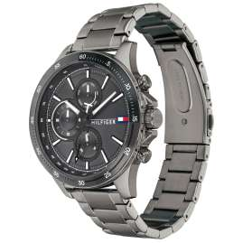 Tommy Hilfiger 1791719 Herrenuhr Multifunktion Bank Anthrazit