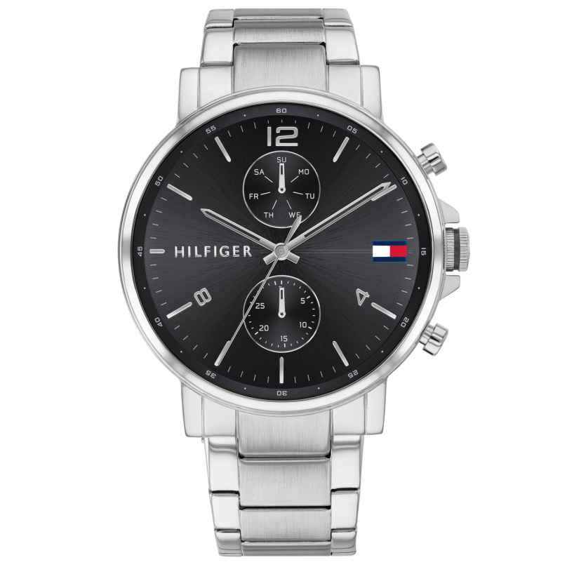 Tommy Hilfiger 1710413 Men's Watch Multifunction Daniel silver / black 7613272378345